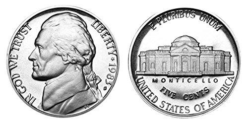 1983 S Jefferson Proof Nickel PF1 US Mint