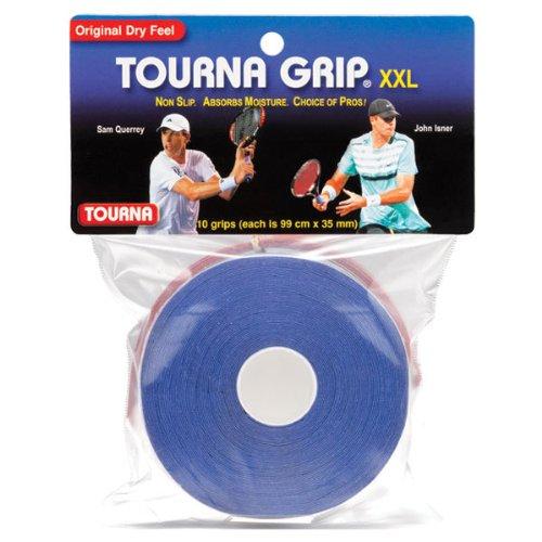 Tourna Grip, XXL, Dry Feel Tennis Grip (Pack of 10)