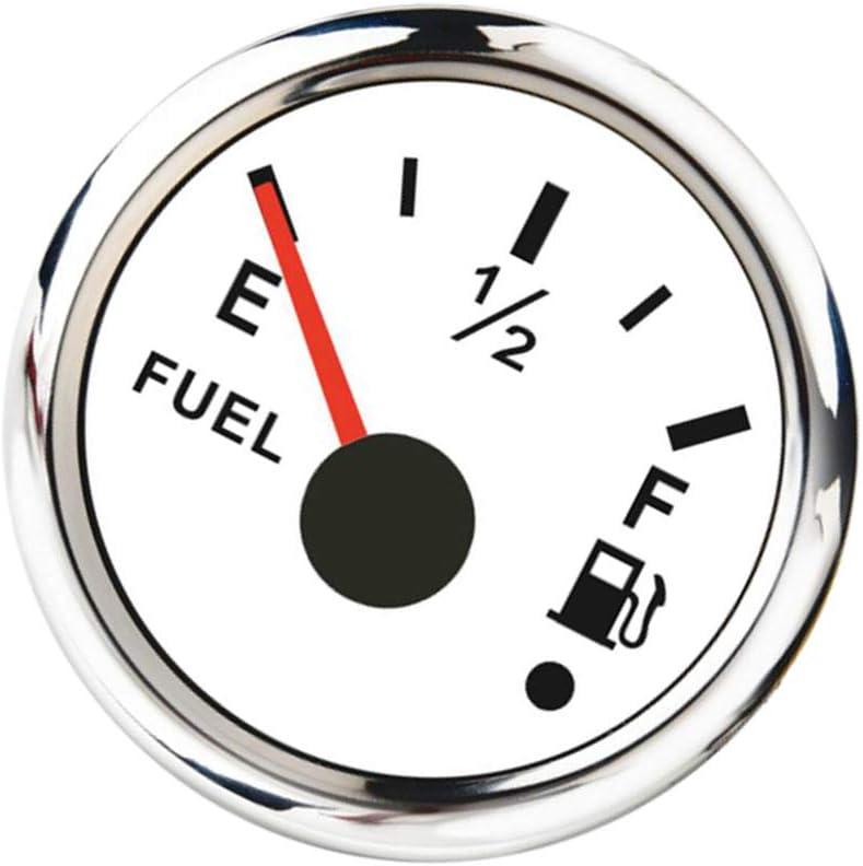 0-190ohm Waterproof Fuel Gauges for Auto Boat E-1//2-F Fuel Level Meters Universal Fuel Level Gauges
