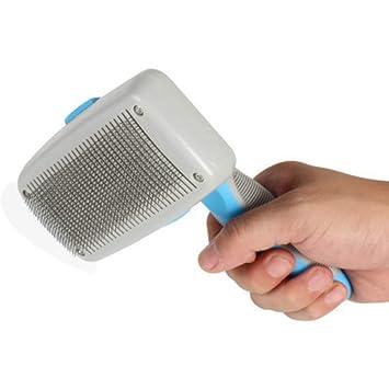 Peinador de aguja telescópico de depilación manual de pelo peinado automático , azul: Amazon.es: Hogar
