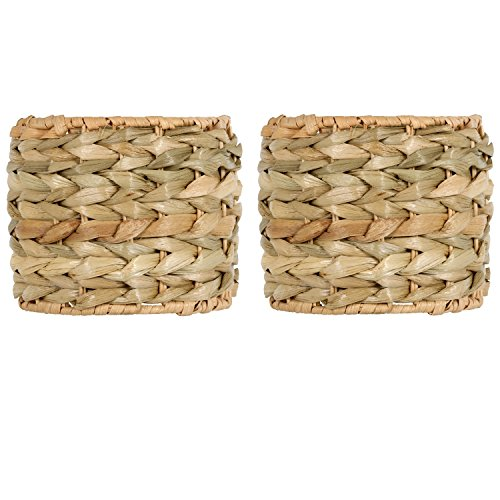 Upgradelights Sea Grass 6 Inch Retro Drum Clip On Chandelier Lamp Shades (Set of 2 Shades) 4x6x4.5