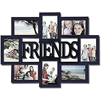 this item adeco decorative black wood friends wall hanging collage picture photo frame 4 x 6 inch