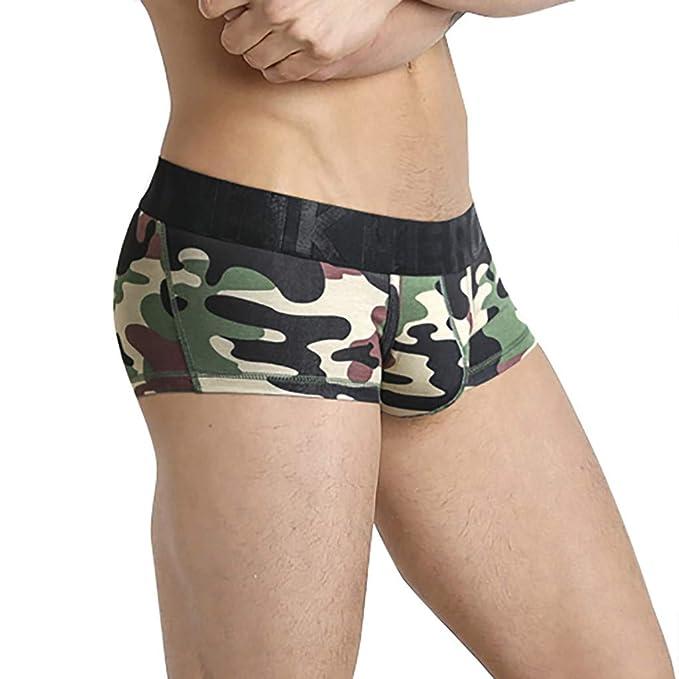 BaZhaHei Calzoncillos Boxer Sexy de Camuflaje Nuevos para Hombre ...