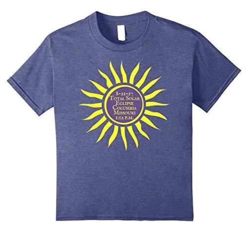unisex-child Columbia MO Total Solar Eclipse T-Shirt, Aug. 21 Sun Tee 12 Heather - Columbia Kids Mo