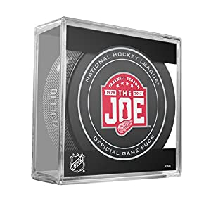 Detroit Red Wings Sher-Wood Farewell Last Season The Joe Official Game Puck in Cube