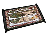 Please Come Home For Christmas Chihuahua Sitting In Window Black Wood Serving Tray