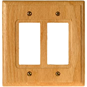 amerelle 4025rr traditional wood double rockergfci wallplate light oak