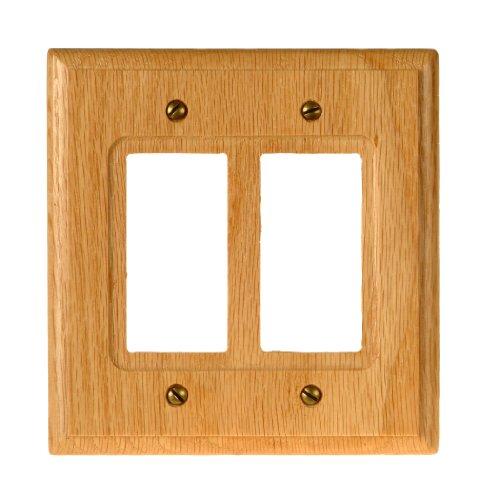Amerelle Traditional Double Rocker Wood Wallplate in