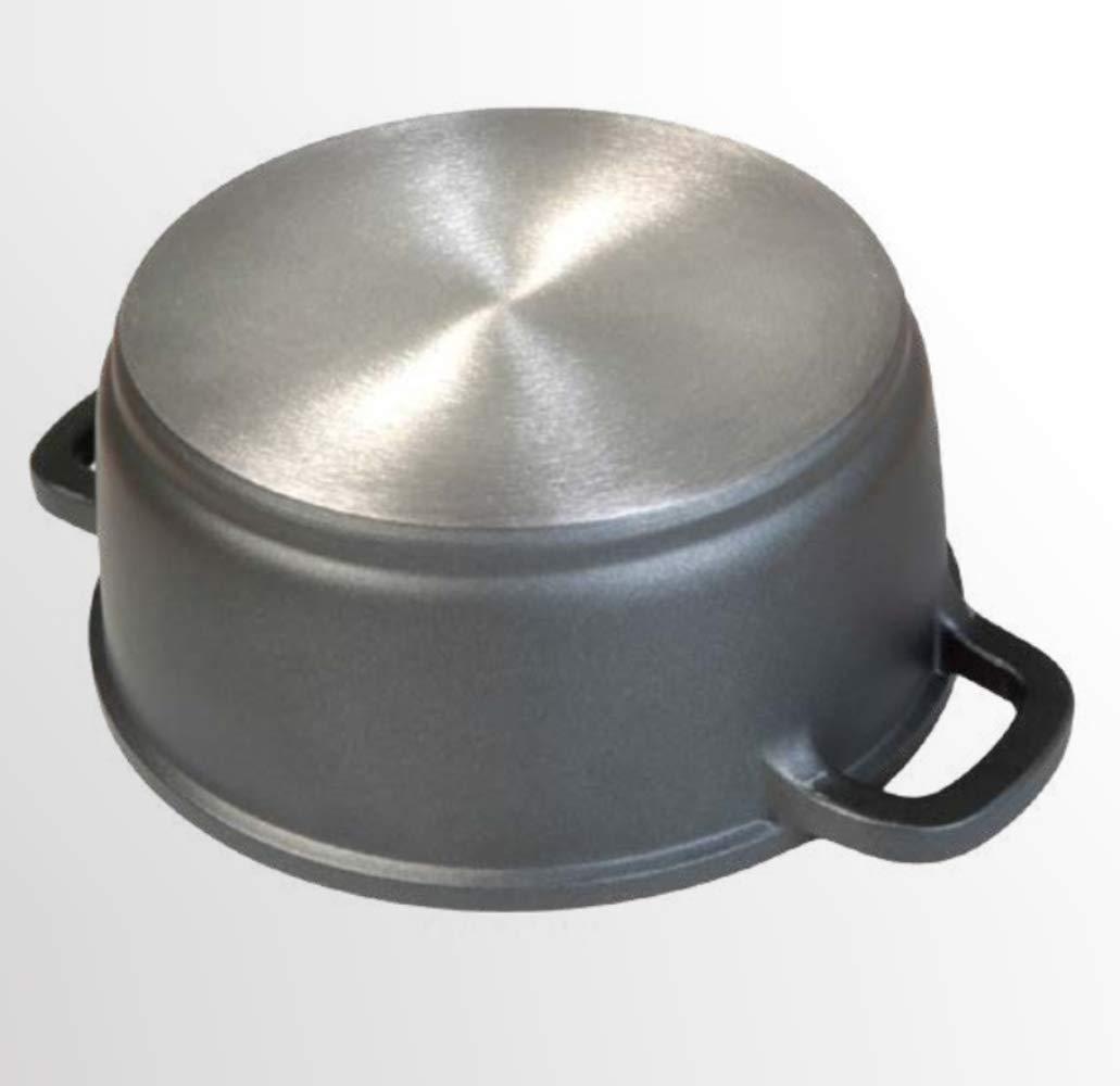 WeCook 10022 Cazuela de Cocina Inducción Profesional, Tapa de Cristal, Cacerola Antiadherente, Libre de BPA, 20 cm, Aluminio Forjado