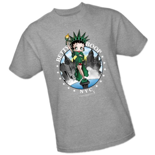New York City -- Betty Boop Adult T-Shirt, Large