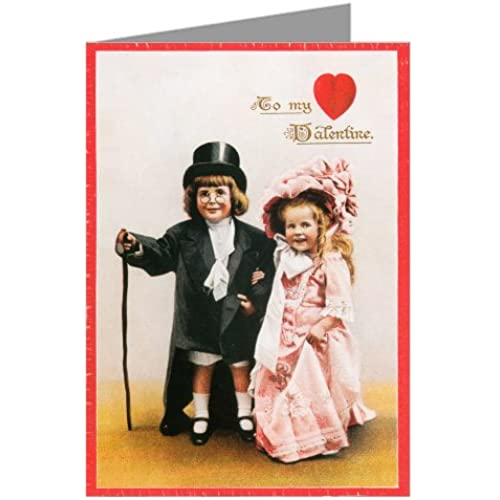 Unique Giant Dressing up Formal Vintage Valentines Day Greeting Card - 10x13 inch Sales