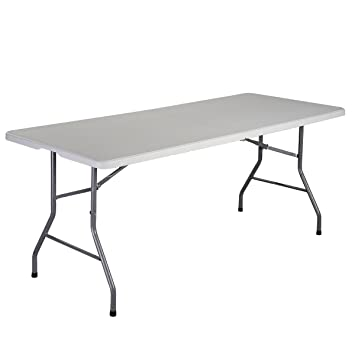 Giantex 6u0027 Folding Table Portable Plastic Indoor Outdoor Picnic Party  Dining Camp Tables