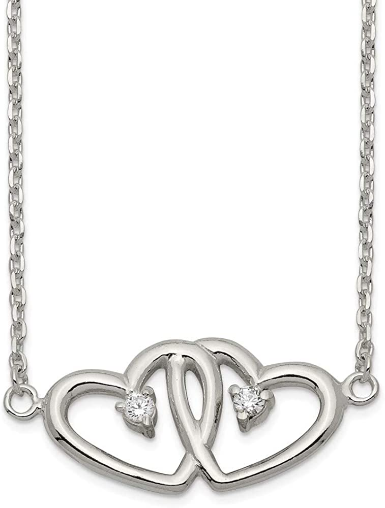 Beautiful Sterling silver 925 sterling Sterling Silver Polished Love Heart Pendant