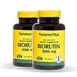 Natures Plus Biorutin (Sophora Japonica) (2 Pack) - 1000 mg, 90 Vegetarian Tablets - Vein Health Supplement, Joint Pain Relief, Antioxidant - Gluten Free - 90 Servings