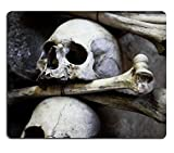 MSD Natural Rubber Mousepad IMAGE ID: 5717446 Skulls and bones in the bone chapel in Kutna Hora Czech Republic