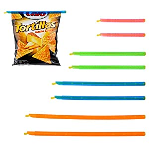 Chip Clips Plastic Bag Sealer Stick - 8 Pack