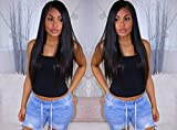 Coco's Hair 360 Lace Frontal Straight Human Hair Wigs Glueless 150% Density Brazilian Virgin Remy Wigs with Baby Hair Narutal Color 14 inch