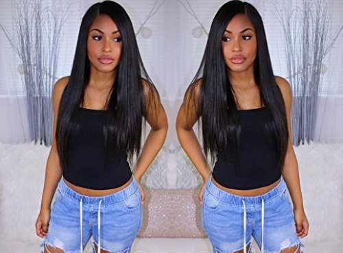 Coco's Hair 360 Lace Frontal Straight Human Hair Wigs Glueless 150% Density Brazilian Virgin Remy Wigs with Baby Hair Narutal Color 14 inch by Coco's Hair