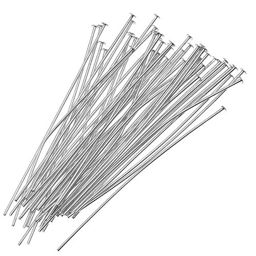 (Beadaholique HP20/112S 50-Piece Head Pins, 24-Gauge, Silver Plated)