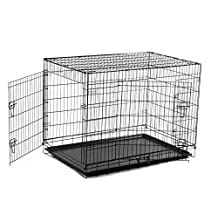 PawHut 30-inch Two Door Folding Metal Dog Crate Cage Kennel