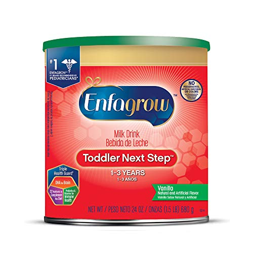 Enfagrow Toddler Next Step, Vanilla Flavor - Powder Can, 24 oz (Best Formula Milk For 1 Year Old Baby)