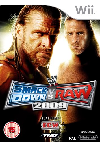 WII WWE SMACKDOWN VS. RAW 2009 - Game 2009 Wwe