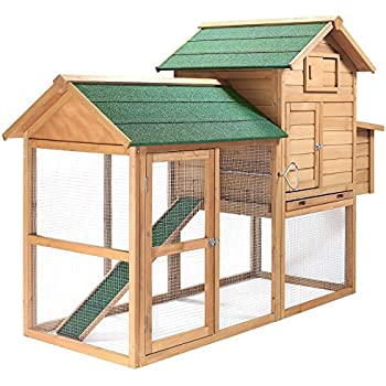 SmithBuilt 7 ft. Wooden Two Story Chicken Coop