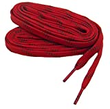 GREATLACES Heavy Duty proTOUGH(TM) Kevlar(R) Reinforced Boot 8mm Wide Flat Shoelaces (2 Pair Pack) (63 inch 160 cm, Red-Black)