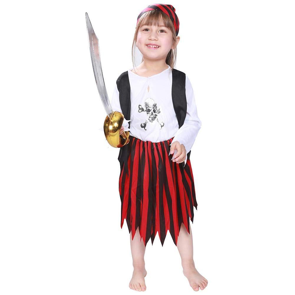 Diamondo Cute Kids Girls Dress Outfits Halloween Performance Clothes Set (S)