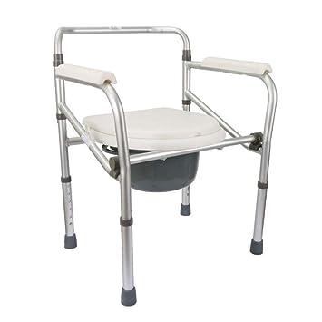 AWCP Silla de baño Silla de Ducha Aleación de Aluminio Rueda Aseo Aseo Inodoro Plegable Baranda Stand up Auxiliar,B: Amazon.es: Deportes y aire libre