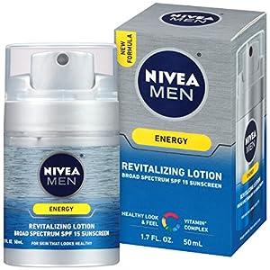 NIVEA Men Energy Lotion Broad Spectrum SPF 15 Sunscreen 1.7 Fluid Ounce