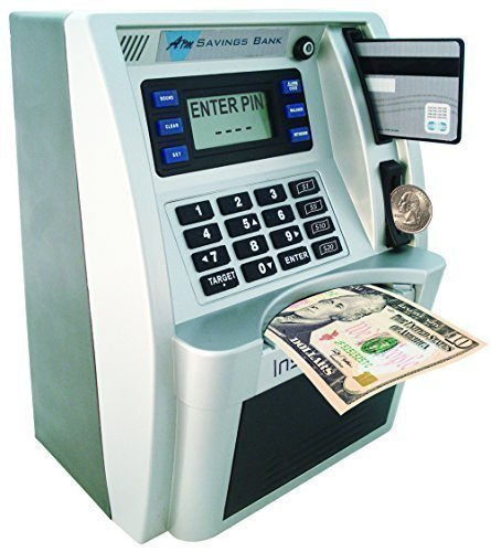 ATM Savings Bank - Limited Edition - Silver/Black - Kid Atm Bank Machine
