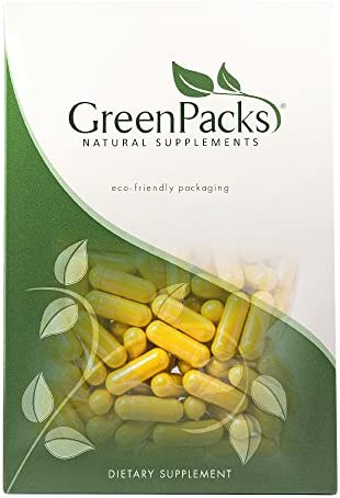GreenPacks Organic Milk Thistle Extract High-Potency Plus Turmeric – 90 Capsules