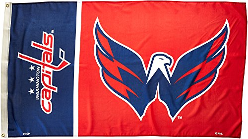 NHL Washington Capitals Flag with Grommetts (3 x 5-Feet)