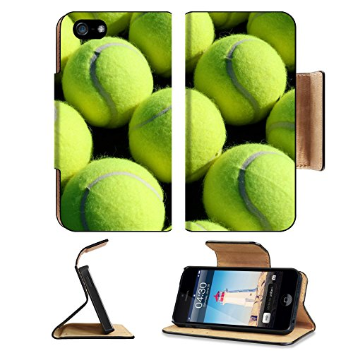 MSD Premium Apple iPhone 5 iphone 5S Flip Pu Leather Wallet Case iPhone5 IMAGE 23726774 Rows of Tennis (964 Bear)