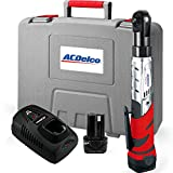 ACDelco ARW1201 Li-Ion 12-Volt 3/8-Inch Ratchet Wrench Kit, 57-Feet Pound