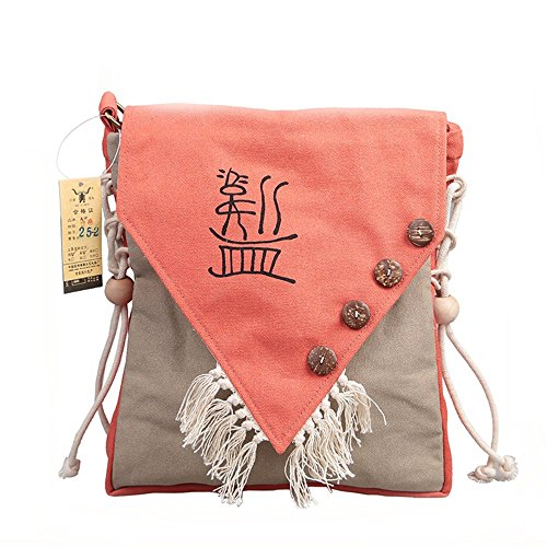 Crossbody Orange Casual Canvas Bags Weekender Printed Canvas Printed Women Weekender Casual 8IvnO6dqO
