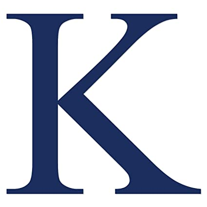 Amazon.com: Applicable Pun Kappa Greek Letter K   Vinyl Decal for