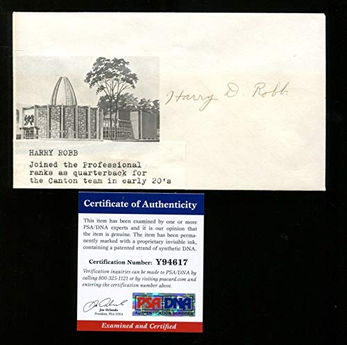 Harry Robb Signed FDC 4x6.5 Autographed Canton Bulldogs Very Rare PSA/DNA Y94617