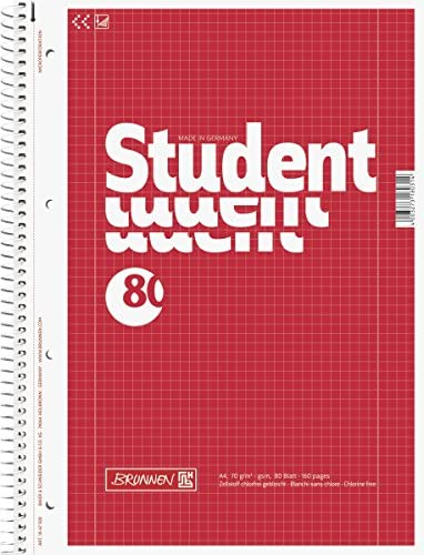 Brunnen 1067940 Notizblock / Collegeblock Student (A4, unliniert 70 g/m², 80 Blatt)