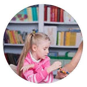 alfombrilla de ratón El psicólogo infantil con una niña - ronda - 20cm