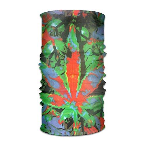 Magic Headwear Tie Dye Weed Outdoor Scarf Headbands Bandana Mask Neck Gaiter Head Wrap Mask Sweatband