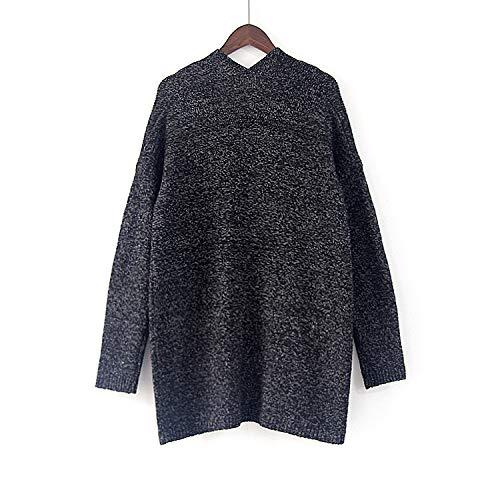 Osyard Long Casual Femme Mode Cardigan Coat Noir noir Manches Kaki Longues Tricot Pull qEAqwrFOx