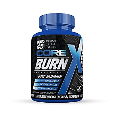 Thermogenic Fat Burner, Energy Boost, Thermogenic, Fat Burner - Energy Enhancing Thermogenic Fat Burner By Core Burn X - Decrease Appetite, Metabolism Booster, Muscle Preservation, 60 Count Tablets