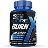 Thermogenic Fat Burner, Weight Loss Pills, Energy Boost, Green Tea Extract, Garcinia Cambogia By Core Burn X - Decrease Appetite, Metabolism Booster, Muscle Preservation, 60 Count Tablets