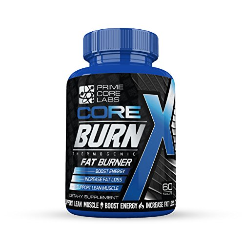 Thermogenic Fat Burner, Weight Loss, Energy Boost, Fat Burner - Energy Enhancing Thermogenic Fat Burner By Core Burn X - Decrease Appetite, Metabolism Booster, Muscle Preservation, 60 Count Tablets