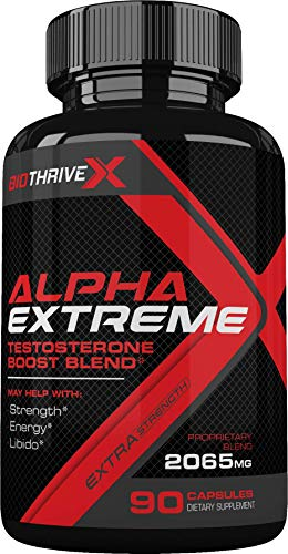 Alpha Extreme Testosterone Boost Blend by BioThriveX - Boosts Your Energy, Stamina, Endurance, and Strength