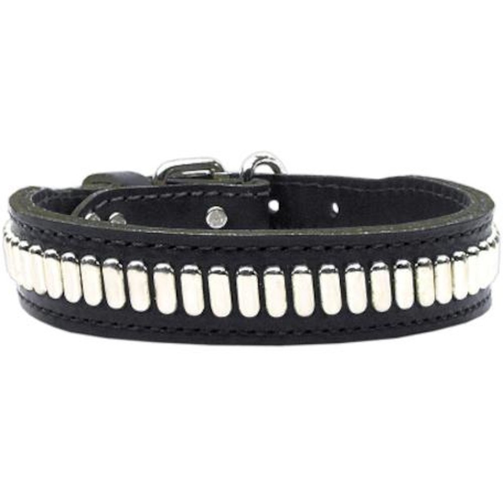 23\ Mirage Pet Products Comet Black Dog Collar, 23