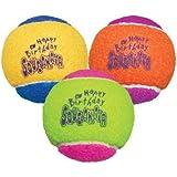 KONG Air Dog Squeakair Birthday Balls Dog Toy (3 Pack), Medium