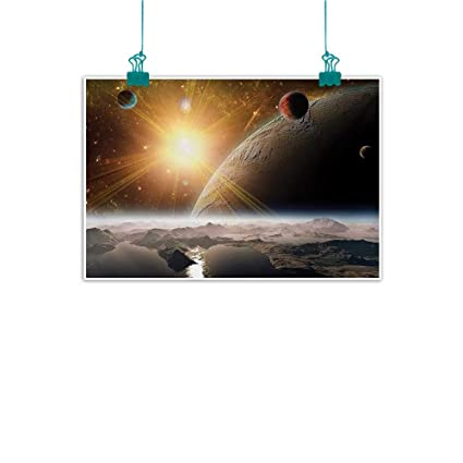 Amazon Com Warm Family Outer Space Living Room Decorative Painting